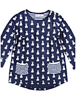 Girl's Birthday Back to School Casual/Daily Holiday Going out Print Dress,Cotton Spring Fall Long Sleeve