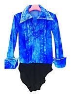 Hombre Manga Larga Patinaje sobre hielo Patinaje Patinaje en Hielo Deportes de Invierno Camisas Alta elasticidad Figura vestido de