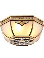 cosecha mediterránea absorber lámpara de la luz de la bóveda americana retro sala de estar el dormitorio lámpara luces Europa tipo cobre