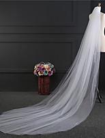 Свадебные вуали Два слоя Короткая фата Фата до локтя Фата для венчания Обрезанная кромка Тюль