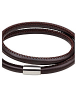 Men's Women's Leather Bracelet Fashion Simple Style Leather Circle Jewelry For Daily Going out