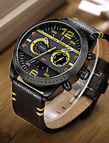 Men's Sport Watch Fashion Watch Wrist watch Unique Creative Watch Casual Watch Japanese Quartz Calendar Genuine Leather Band Charm Unique