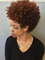 Women Synthetic Wig Capless Short Curly Medium Auburn African American Wig Ombre Hair Natural Wig Costume Wigs