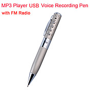 2GB MP3 Player USB Voice Recording Pen with FM Radio