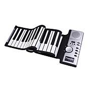 61-Key Digital Roll-up Soft Keyboard Piano with MIDI