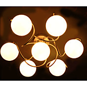 Modern Iron 7-light Glass Chandelier