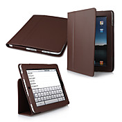 2-in-1 Protective PU Leather Carry Case + Movie Stand for Apple iPad (Brown)