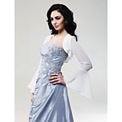 Long Sleeves Chiffon Bridal Jacket/ Wedding Wrap