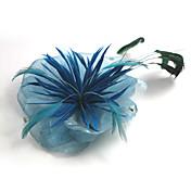Gorgeous Organza With Feather Wedding Bridal Headpiece