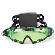 Night Vision Goggles with LED Lights Green Tinted Lens with Etched Graphic