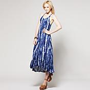 TS Tie Dye Ruffled Hem Maxi Dress