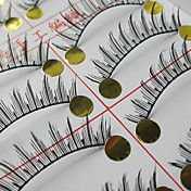 Natural Looking False Eyelashes (10 Pair)
