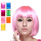 Capless Bob Style Synthetic Party Wig-Seven Colors