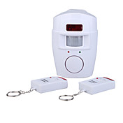 Independently Wireless Infrared Motion Detecting Alarm System with 2 x Remote Controls for Home Security