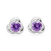 925 Sterling Silver And Rhinestone With Platinum Plating Earrings