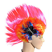 Capless Short Cristate Color Fans Costume Party Festival Hair Wig