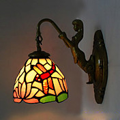 Antique Inspired Wall Light in Tiffany Style - Droganfly patterned