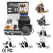 6 Guns Tattoo Kit with  LCD Power and 7*30 Ink