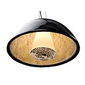 Modern Pendant Light in Black Lampshade