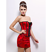 Acrylic With Embroidery Strapless Front Busk Closure Corsets Special Occasion Shapewear