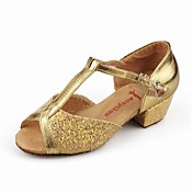 Sparkling Glitter Upper Women and Kids Style Dance Shoes Ballroom Latin Shoes More Colors