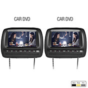 9 Inch Car Headrest DVD Player Support FM Transmitter Wireless Game Free Headphones (1 Pair)