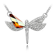 Crystal Flying Dragonfly Necklace