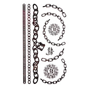 5 Pcs Black Jewelry Waterproof Temporary Tattoo(17.5cm*10cm)
