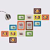 Colorful Photo Wall Frame Collection - Set of 14