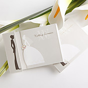 Simple Design Bride And Groom Wedding Invitation (Set of 50)