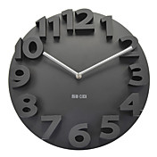 3D Number Mute Wall Clock