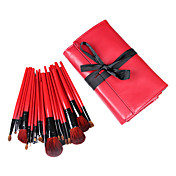 28 Pcs Wool Makeup Brush Set with Free Black Case