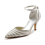 Satin Stiletto Sandals With Rhinestone For Wedding (More Colors)