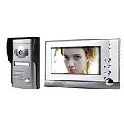 7 Inch Touch Screen Color Video Door Phone System with  Alloy Weatherproof Cover Camera