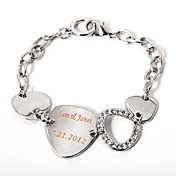 Personalized Silver Chain Bracelet
