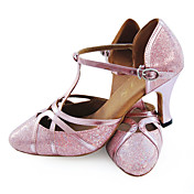 Customized Sparkling Glitter And Leatherette With Buckle Dance Shoes (More Colors)