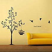 Tree and Bird Cage Wall Stickers (1985-P59)