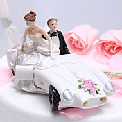 Bride & Groom In Getaway Car Cake Topper