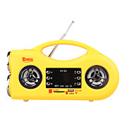 Card Mini Speaker Stereo FM with Radio Digital Display with LED Screen