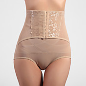 High Waist Front Busk Closure Shapewear Panties In Chinlon And Spandex