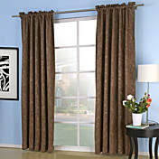 Pray Embossed Blackout Thermal Curtains (Two Panels)