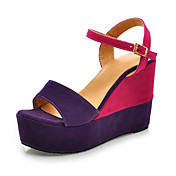 Suede Wedge Heel Sandals / Slingbacks With Split Joint Party & Evening Shoes (More Colors Available)