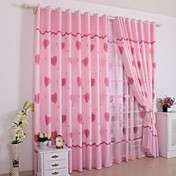 Maud Contemporary Window Curtains (Two Panels)