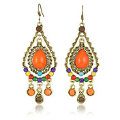 Orange Drop Bosimia Style Ladies' Earring