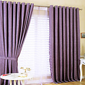 (Two Panels) Purple Solid Thermal Curtains