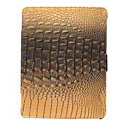 Protective Leather Case With Luxury Crocodile Pattern for iPad 2(Brown)