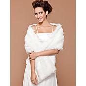 Faux Fur Bridal Wedding Shawl