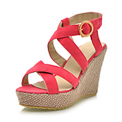 Beautiful Suede Wedge Heel Sandals / Wedges Party & Evening Shoes (More Colors Available)