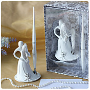 Bride and Groom Design Wedding Pen Set in White Resin