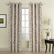 Branches Contemporary Window Curtain (Two Panels)
